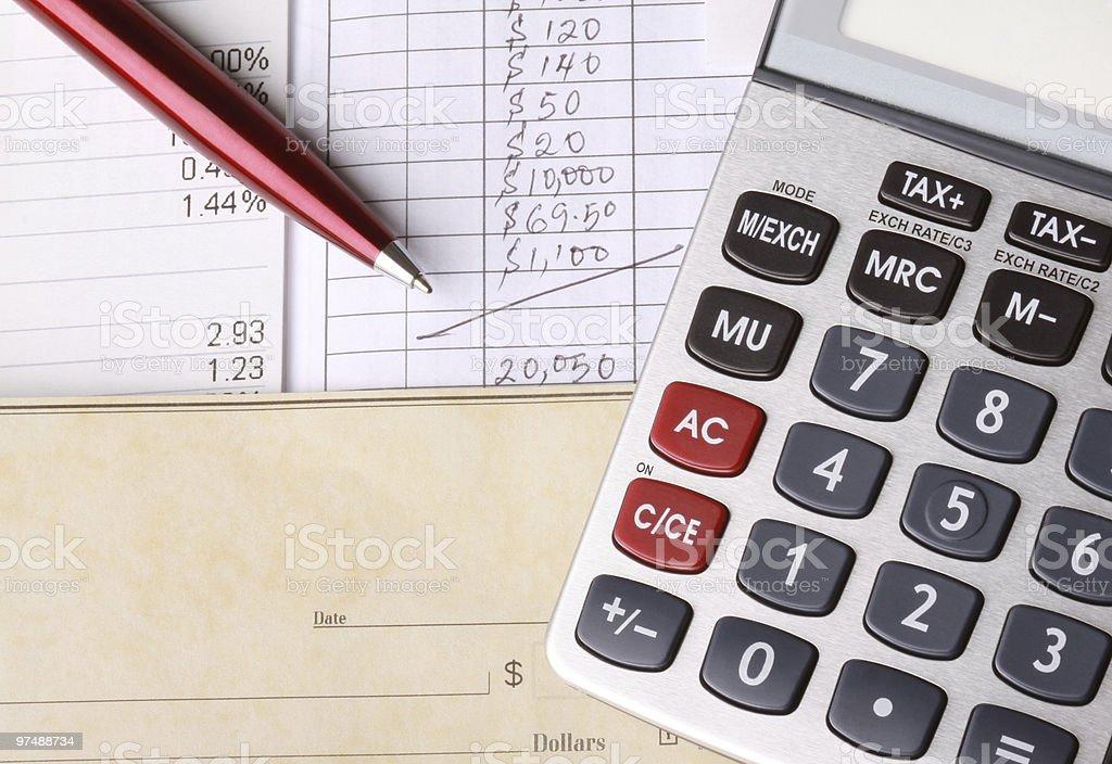 Équilibre carnet de chèques photo libre de droits