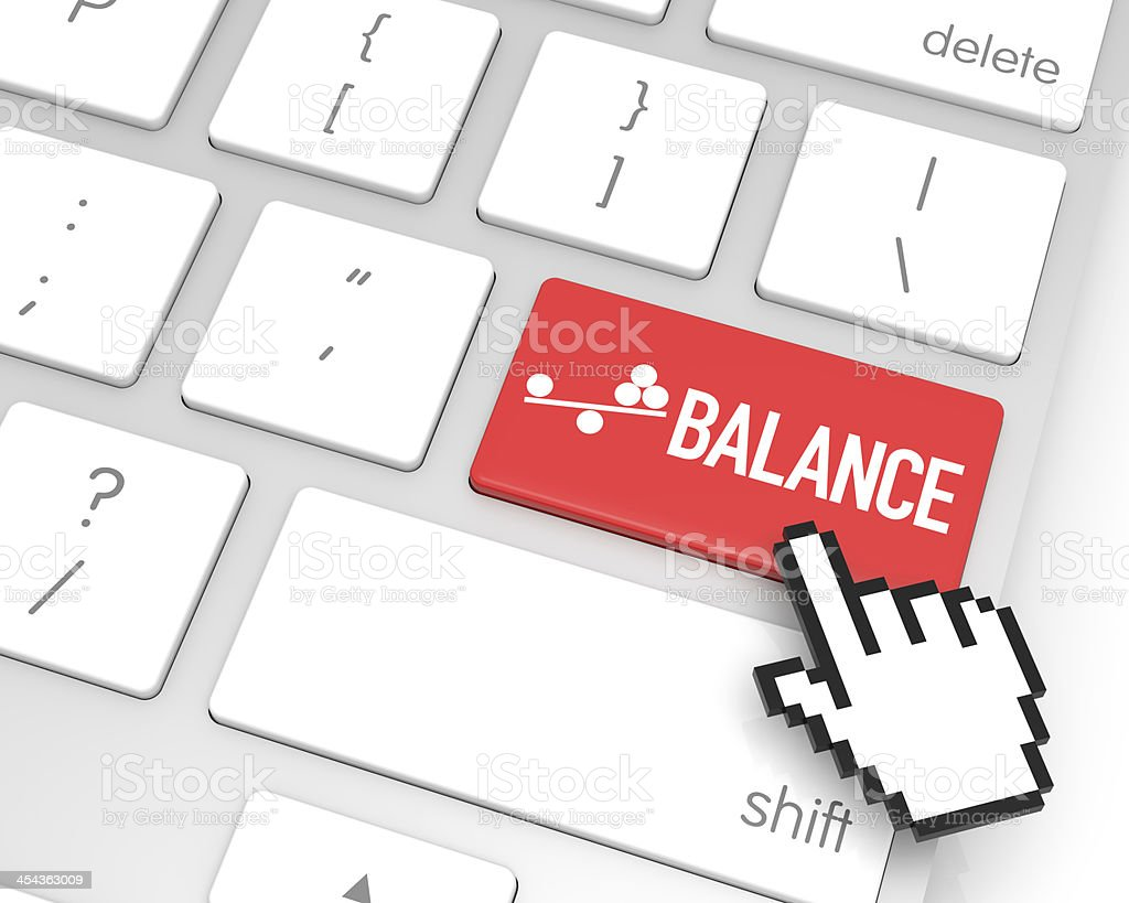 Balance Enter Key royalty-free stock photo
