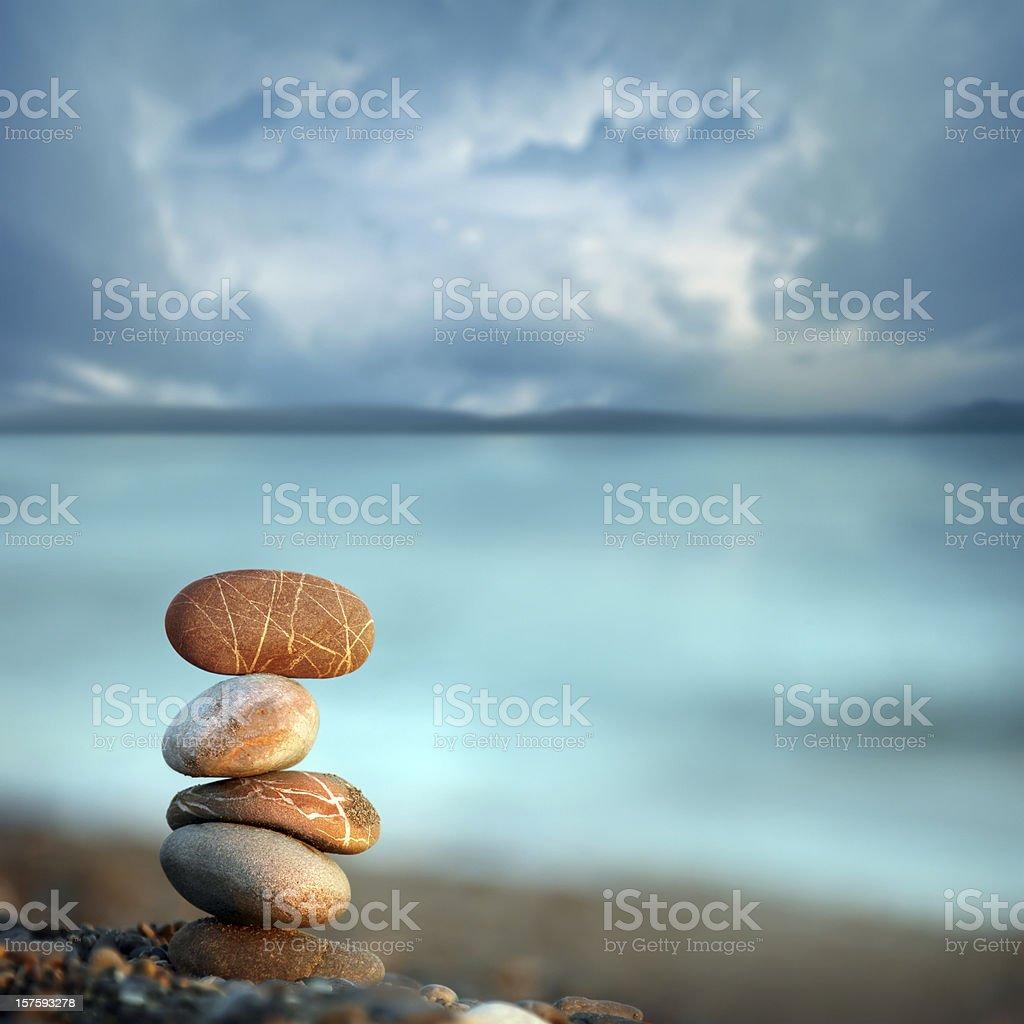 balance in peace stock photo
