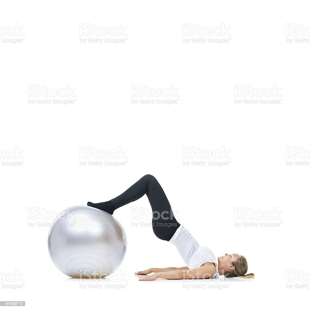 Balance is key for the exercise ball royalty-free stock photo
