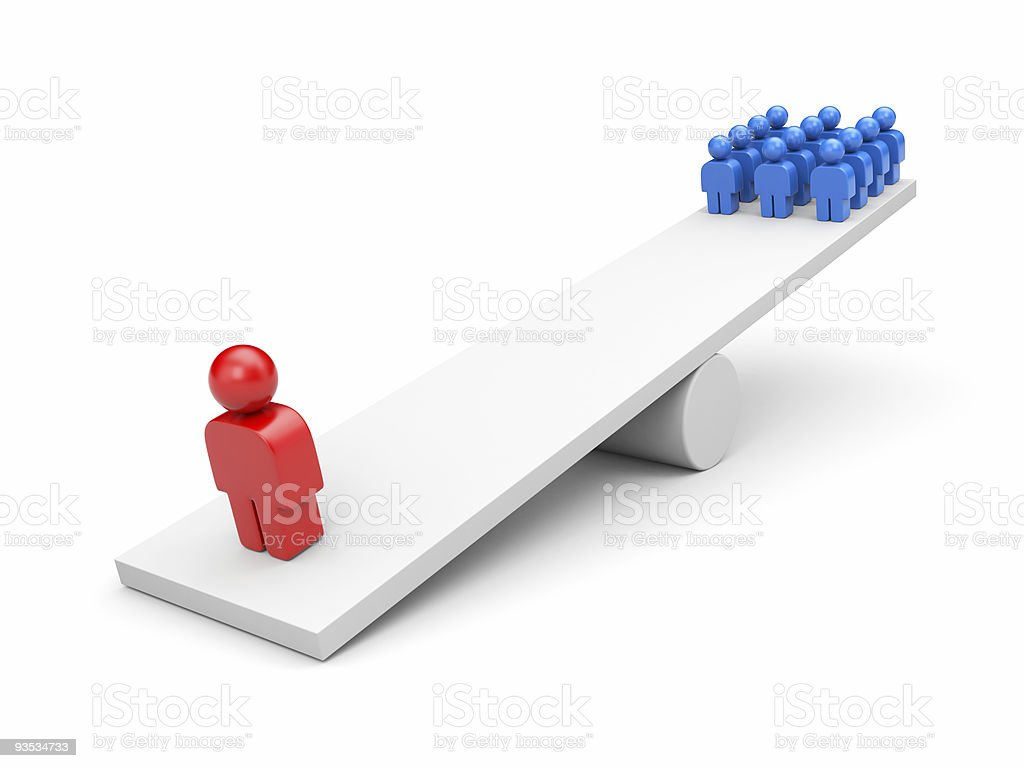 Balance. Leadership concept. Business metaphor royalty-free stock photo