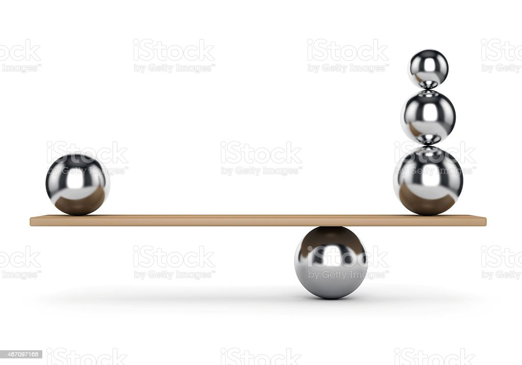 Balance metal balls stock photo