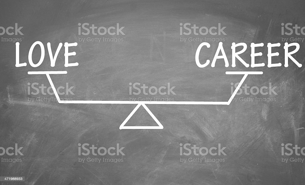 Balance of career and love stock photo