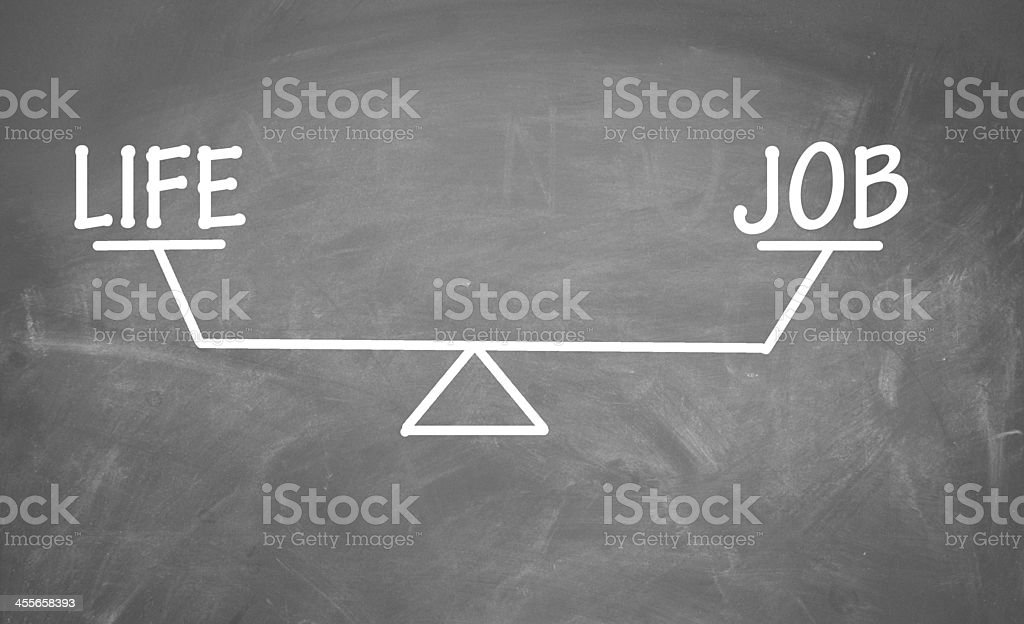Balance of life and job stock photo