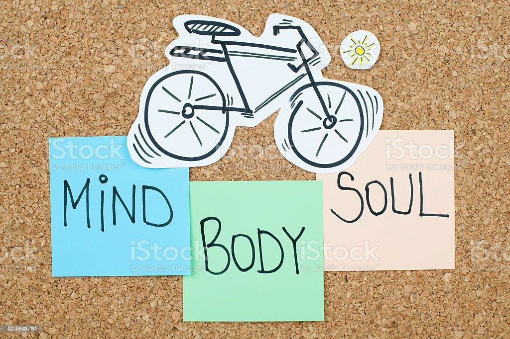 Balance of Mind Body Soul stock photo
