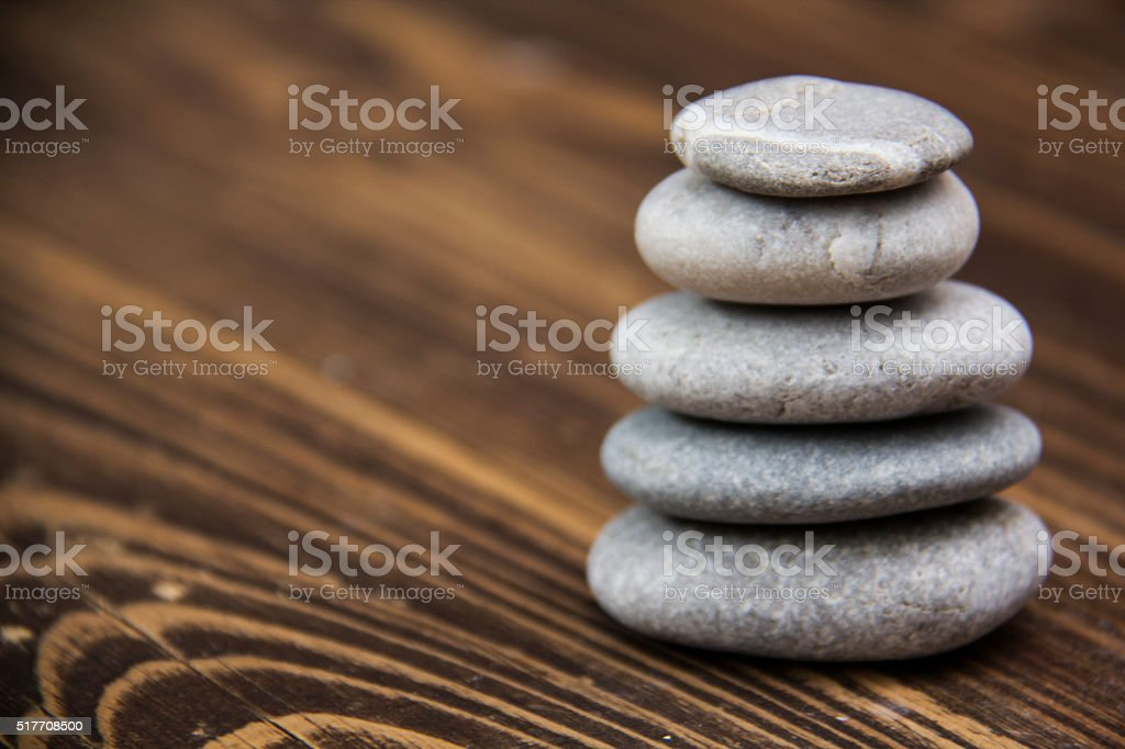 Balance of natural stones stands stock photo