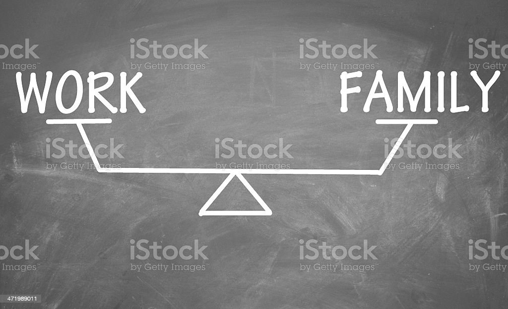 Balance of work and family stock photo