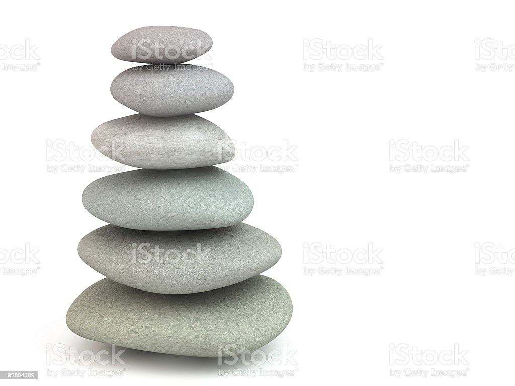 Balance on a white royalty-free stock photo