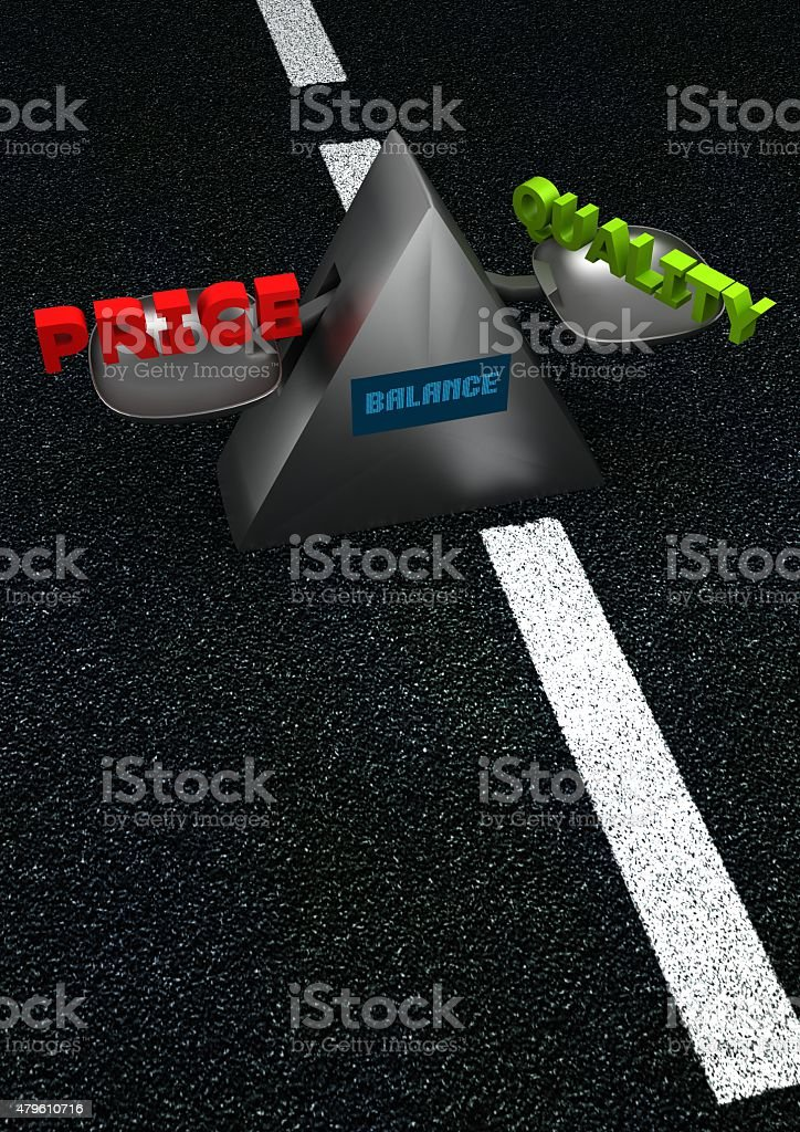 Balance - price-quality stock photo