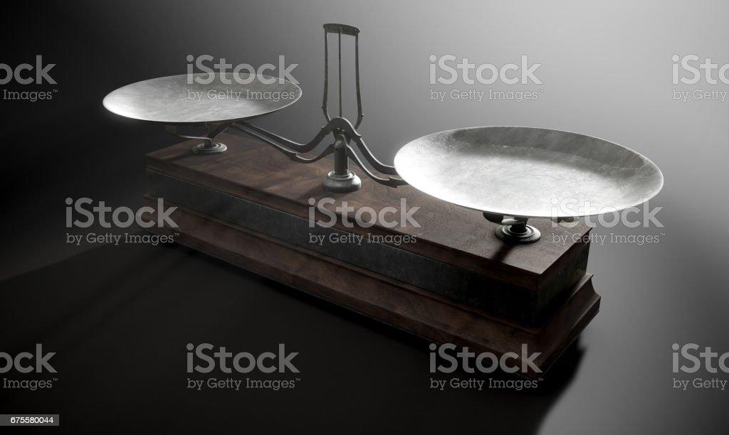 Balance Scale Comparison stock photo