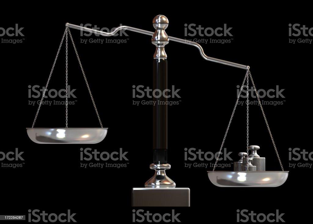 Balance scale royalty-free stock photo