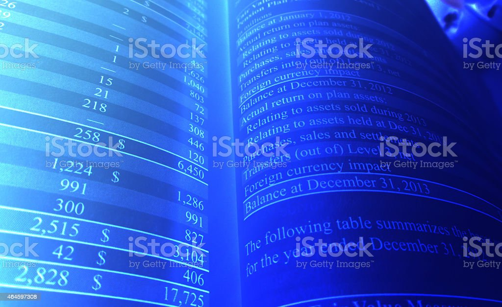 Balance Sheet Business Abstract stock photo