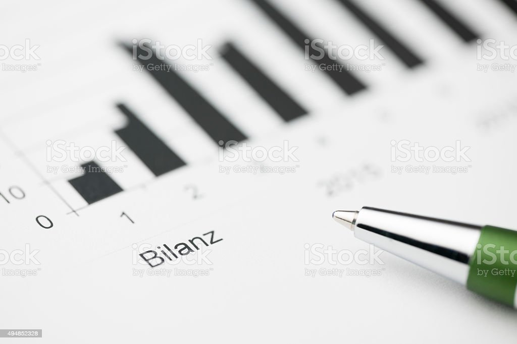 Balance sheet high stock photo