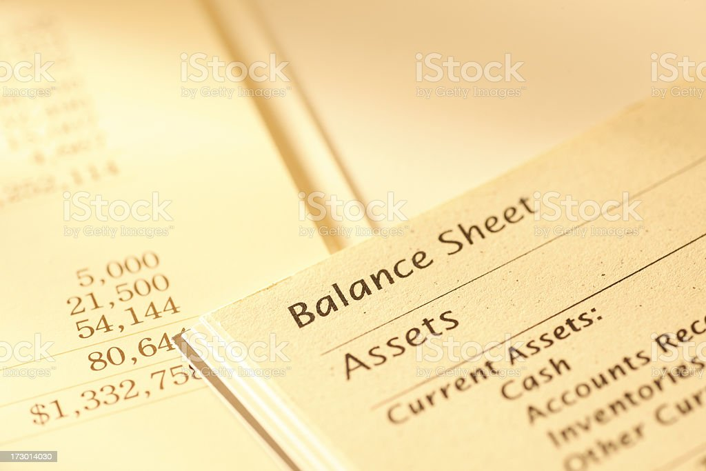 Balance Sheet stock photo