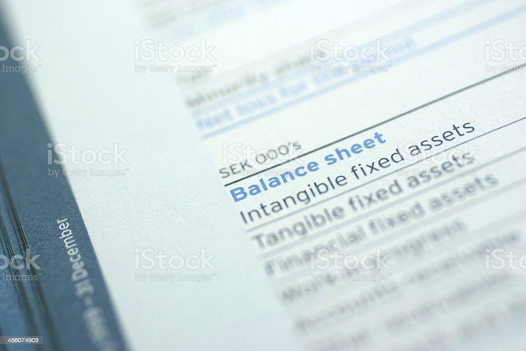 Balance Sheet stock photo