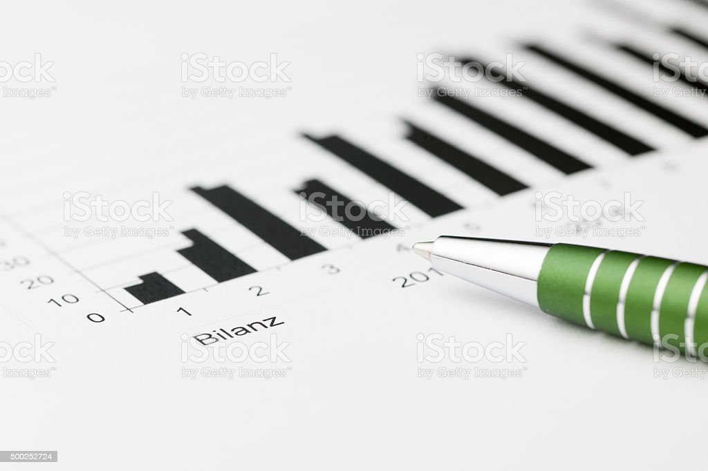 Balance sheet wide stock photo