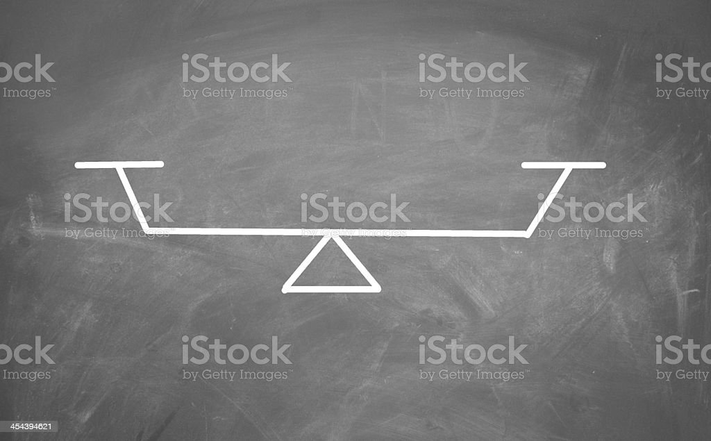 Balance sign stock photo