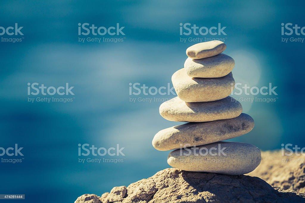 Balance spa wellness concept stock photo