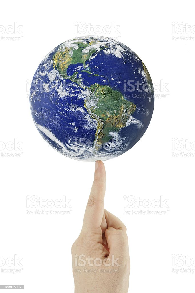 Balance the World on your Fingertip royalty-free stock photo