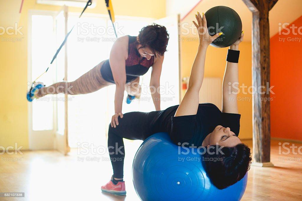 Balance training stock photo