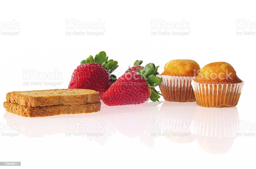 Balanced breakfast. royalty-free stock photo