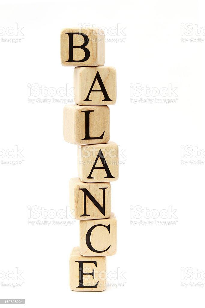 Balanced Building Blocks royalty-free stock photo