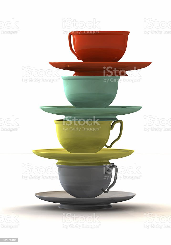 Balanced Cups royalty-free stock photo