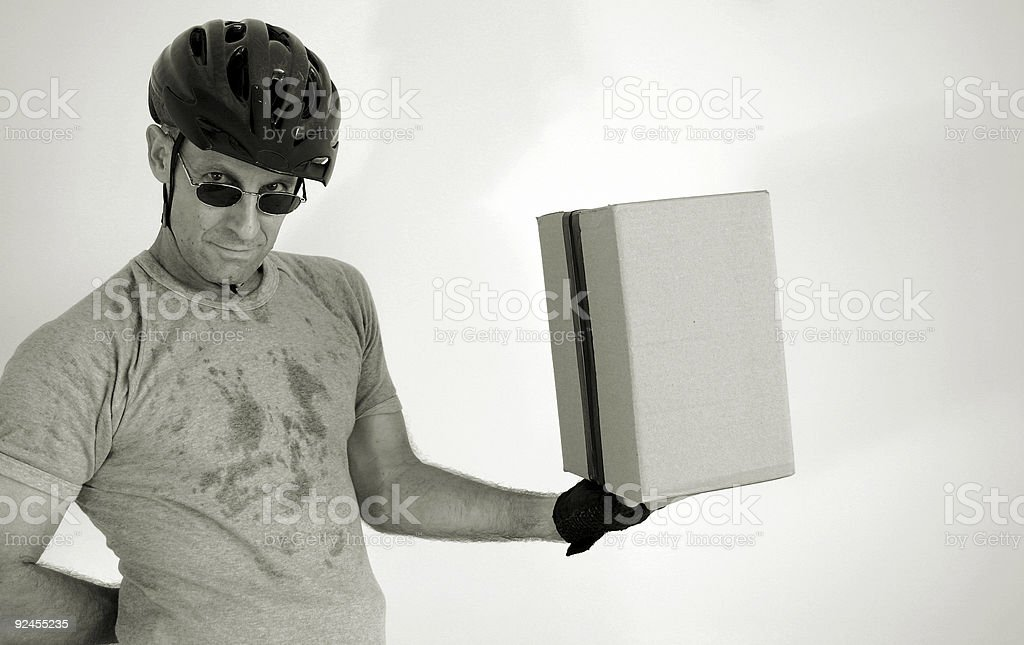 balanced delivery royalty-free stock photo