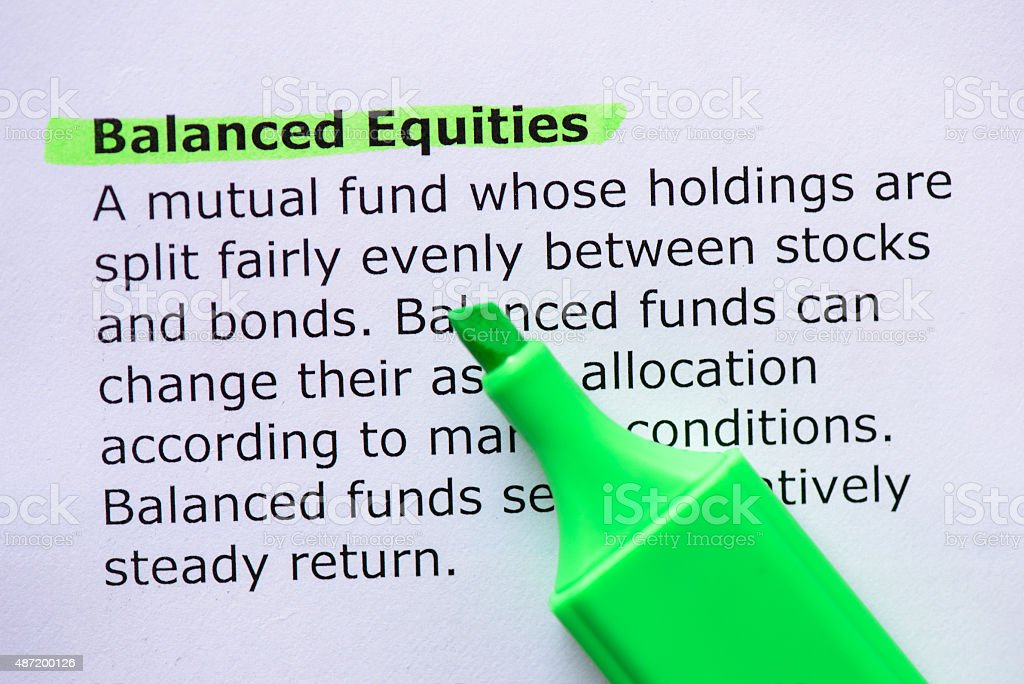 Balanced Equities stock photo