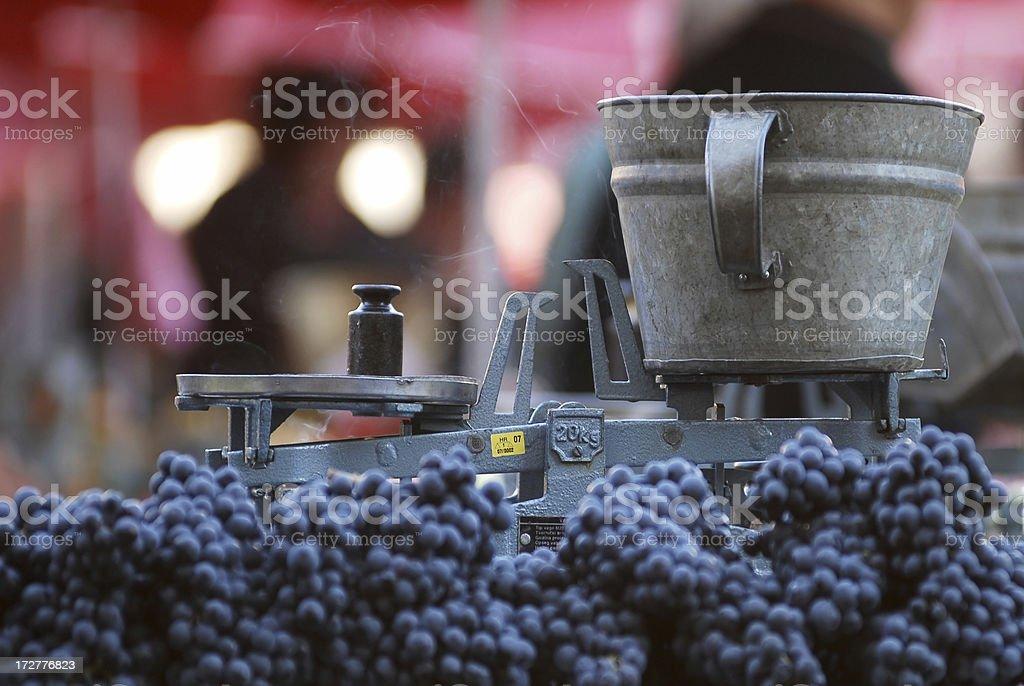 balanced grapes royalty-free stock photo