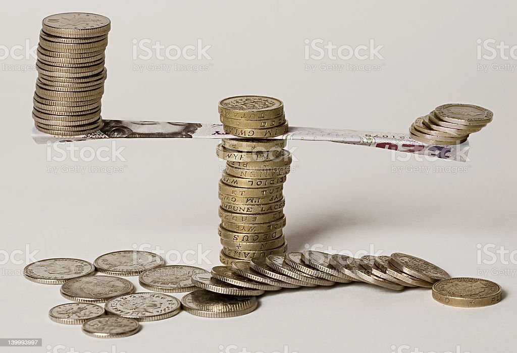 Balanced Income royalty-free stock photo
