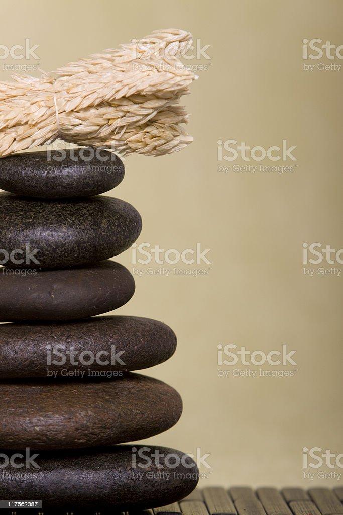 Balanced massage rocks stock photo