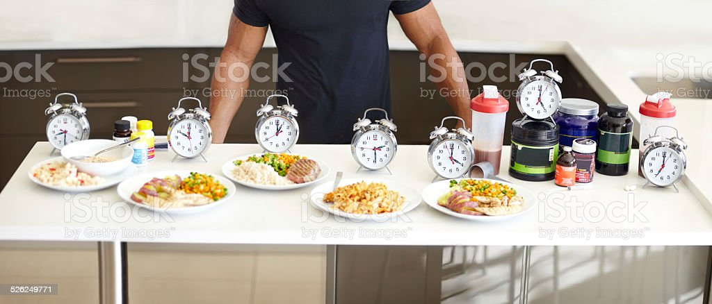 Balanced meals with structured mealtimes is a must stock photo