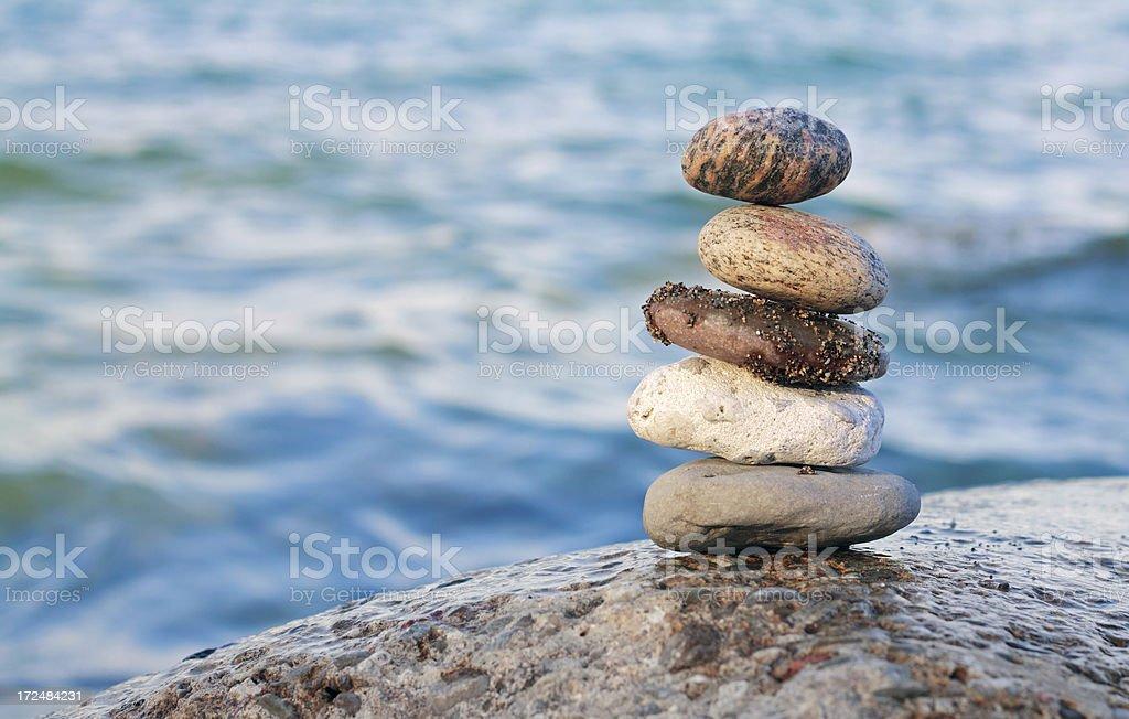 Balanced Pebble royalty-free stock photo