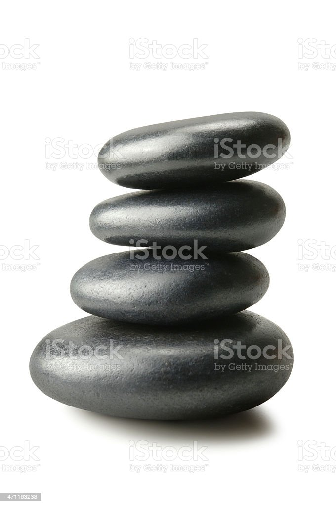 Balanced Pebbles royalty-free stock photo