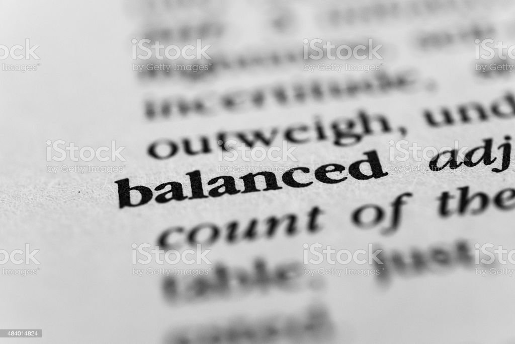 Balanced stock photo