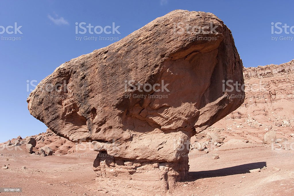 Balanced rock, along the road to Lees Ferry stock photo