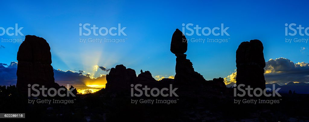 Balanced Rock Panorama stock photo