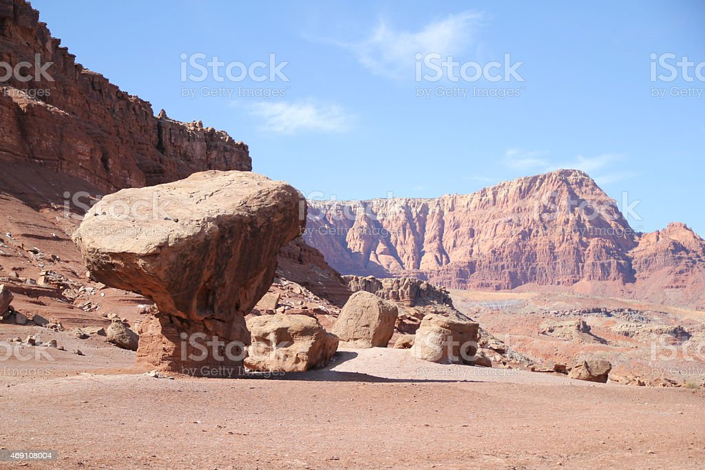 Balanced rock stock photo