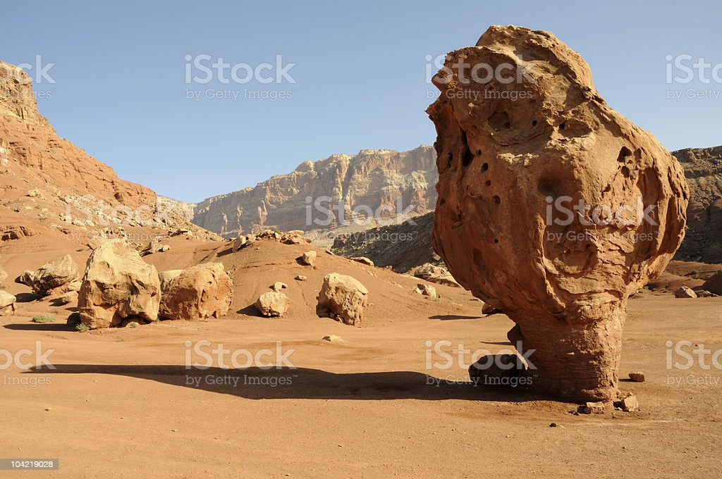 Balanced Rock - Vermilion Cliffs National Monument stock photo