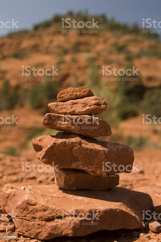 balanced rocks - Airport vortex Sedona Arizona royalty-free stock photo
