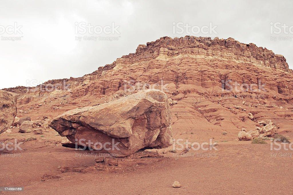 Balanced rocks at the Vermillion Cliffs stock photo