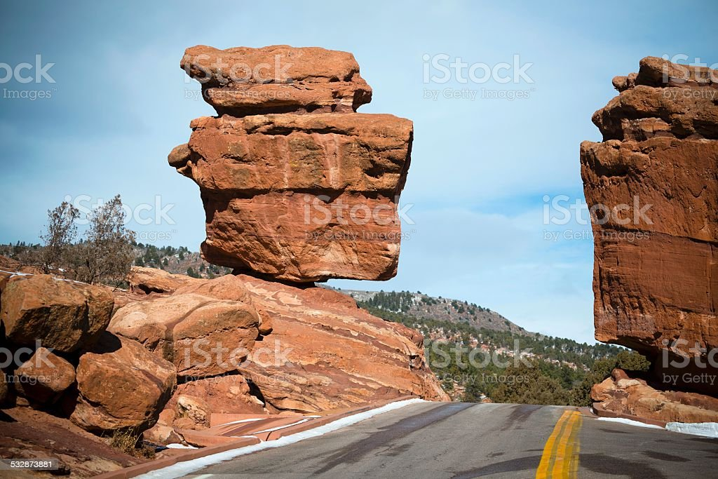 Balanced Rocky, Garden of the Gods, Colorado Springs stock photo