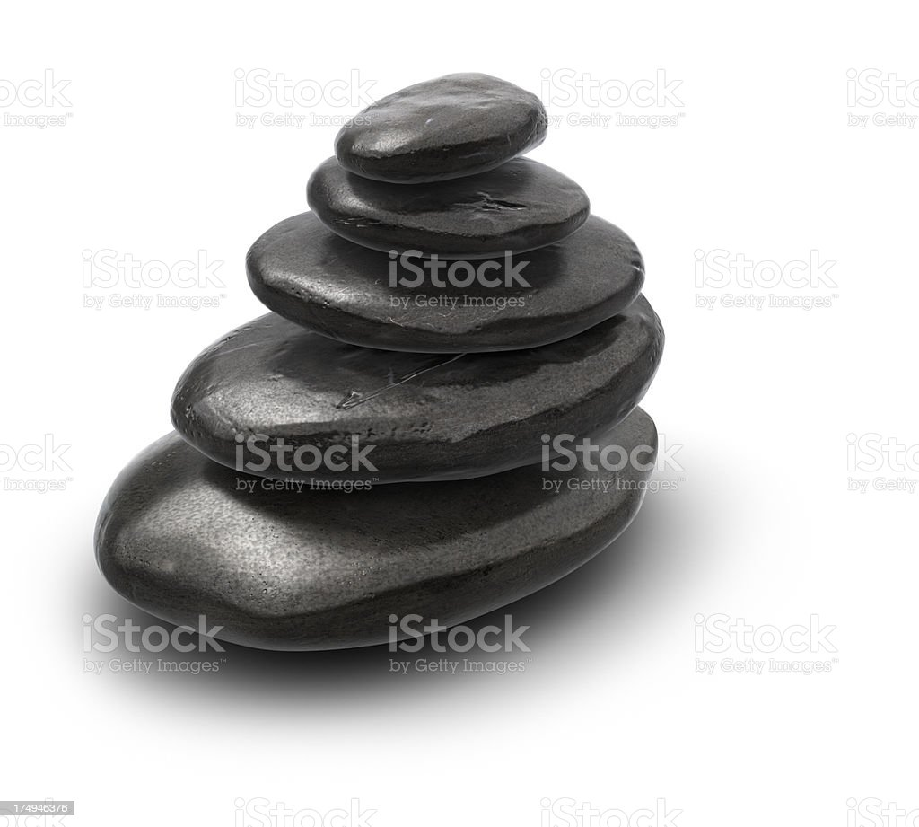 Balanced Stack of Zen Pebbles. royalty-free stock photo