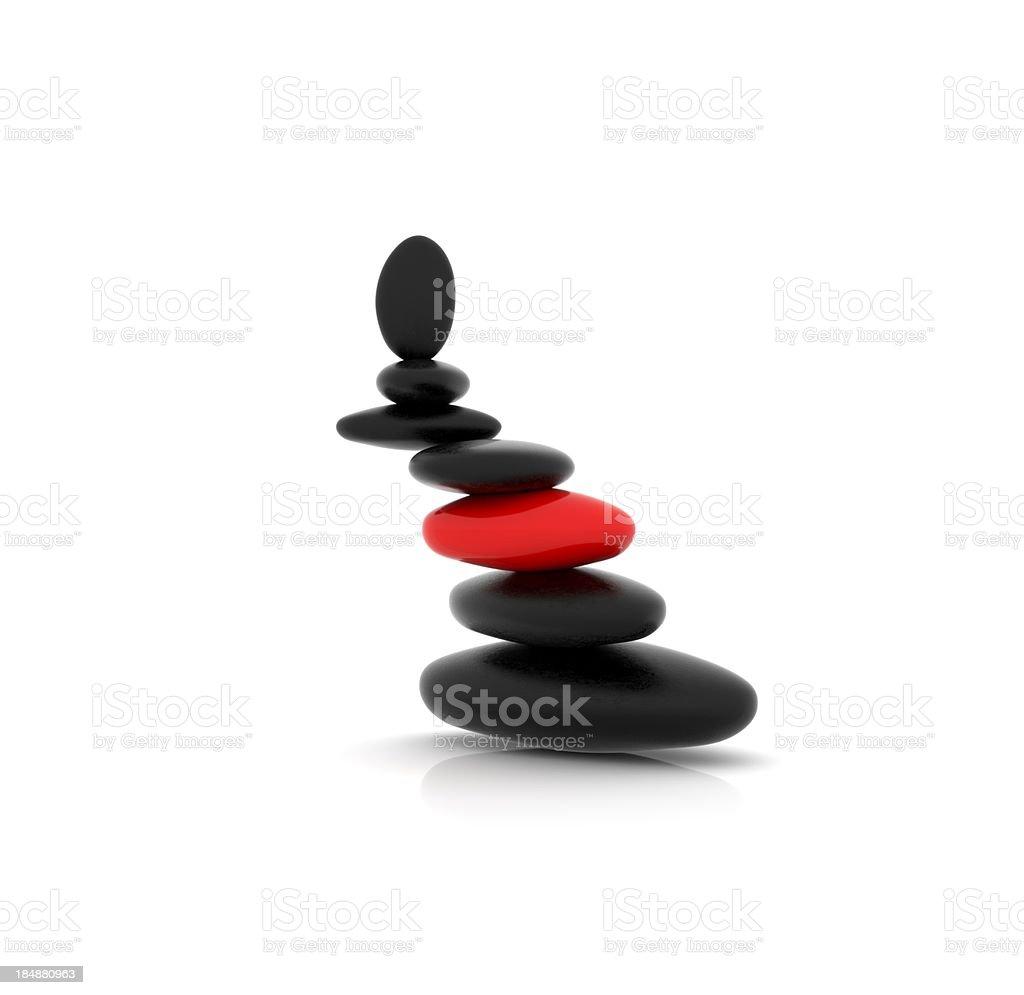 Balanced Stone royalty-free stock photo