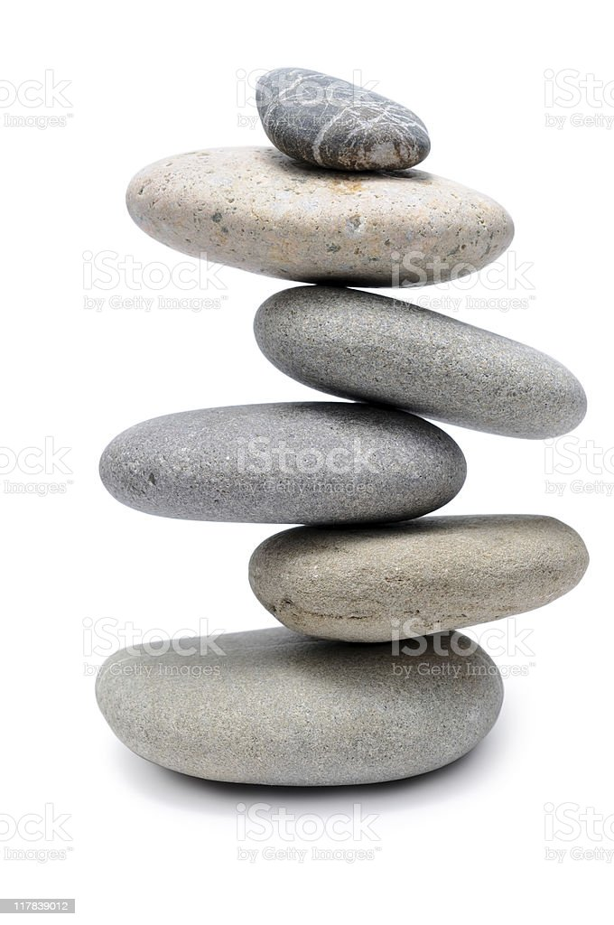 Balanced Stone Pile royalty-free stock photo