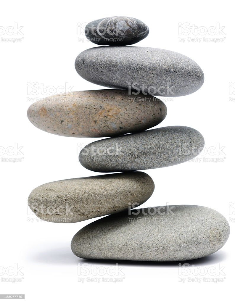 Balanced Stone Pile stock photo