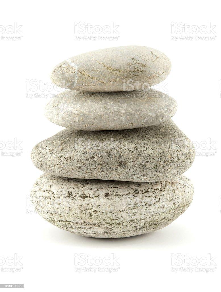 Balanced stones close-up royalty-free stock photo