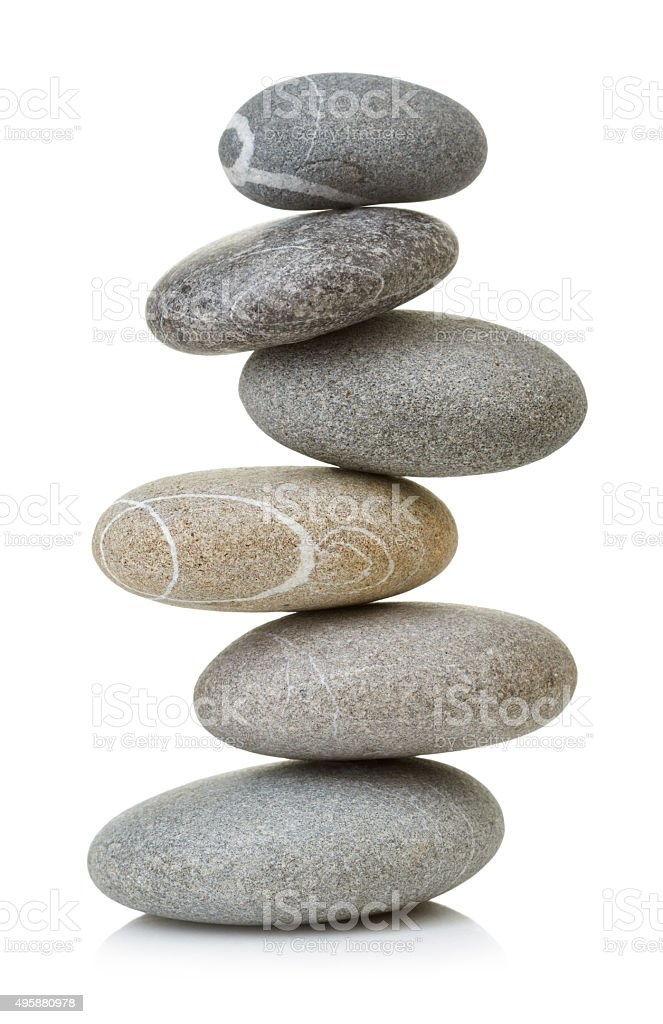 Balanced stones stock photo