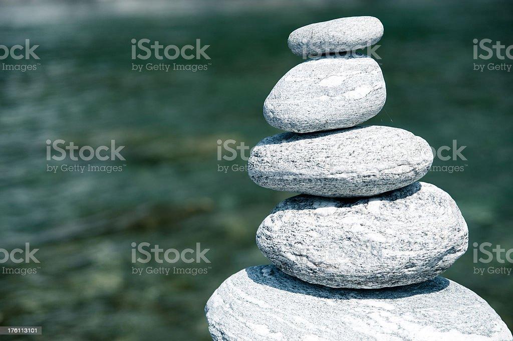 balanced stones stack royalty-free stock photo